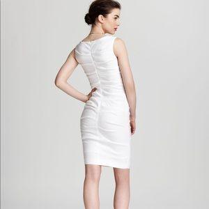 e3dc487978f Nicole Miller Dresses - Nicole Miller Lauren Stretch Linen White Dress